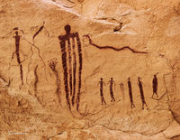 snake,procession,barrier,canyon,style,pictographs,colorado,plateau