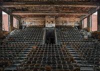 abandoned,high,school,auditorium,burnt,rust,belt