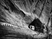 black,and,white,ruin,anasazi,structures,navajo,reservation,ancestral,puebloan
