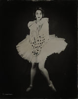 ballet,in,the,antiquity,chicago,wet,plate,collodion,tintype,clown,suit,ballerina