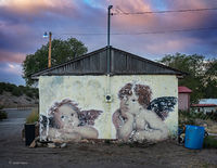 angels,old,decaying,mural,new,mexico