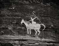 navajo,warrior,navajo,nation,old,navajo,pictograph