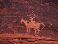 navajo,warrior,petroglyph,old,navajo,rock,art,navajo,nation