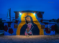 abandoned,dance,hall,night,new,mexico,mural