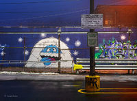 abominable,snow,man,snowman,chicago,alley,art
