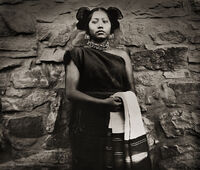 Tintype of a Hopi Maiden