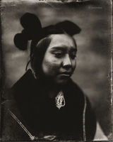 hopi,contemplation,hubbell,trading,post,ganado,arizona,wet,platecollodion,tintype