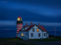 West Quoddy Head At Night
