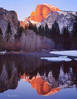 half,dome,alpenglow,california,yosemite,national,park