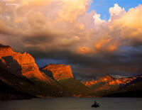 montana,glory,sunrise,glacier,national,park