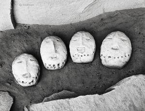 Sacred Navajo Yei Bi Chei Masks-in situ