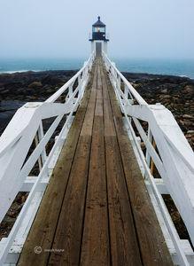 Foggy Morning Lighthouse
