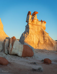 Hopi Hoodoo Formations At Dusk