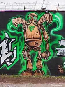 Robot Graffiti Artist