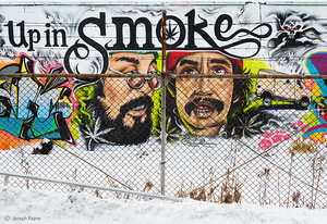 Cheech & Chong Street Art