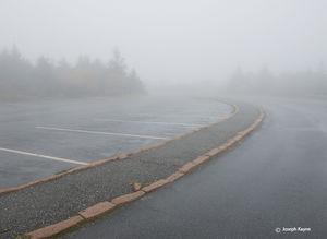 Foggy Parking Lot