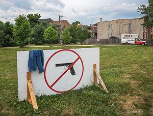 No Hand Gun Sign
