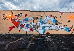 Clearing Storm Over Deer Mural