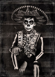 Day of the Dead Boy Wet Plate
