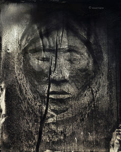 Old Navajo Tree Carving-Wet Plate