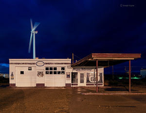 Old Gas Station & Windmill