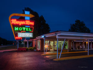 Old Motel At Night