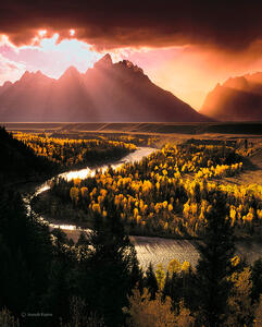 Clearing Storm Over The Teton Range