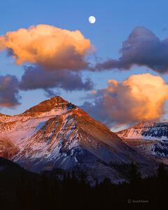 Harvest Moonrise Over Vermillion Peak