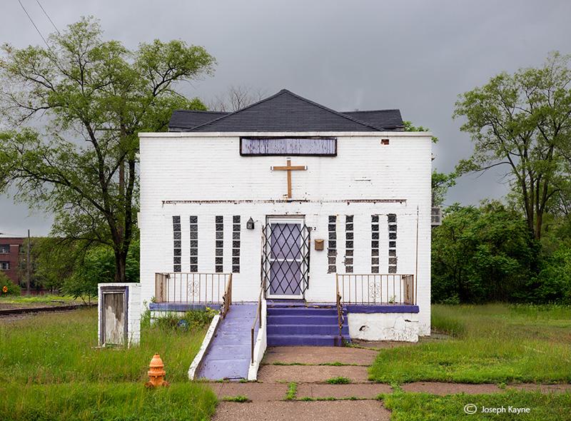purple,abandoned,church,gary,indiana, photo