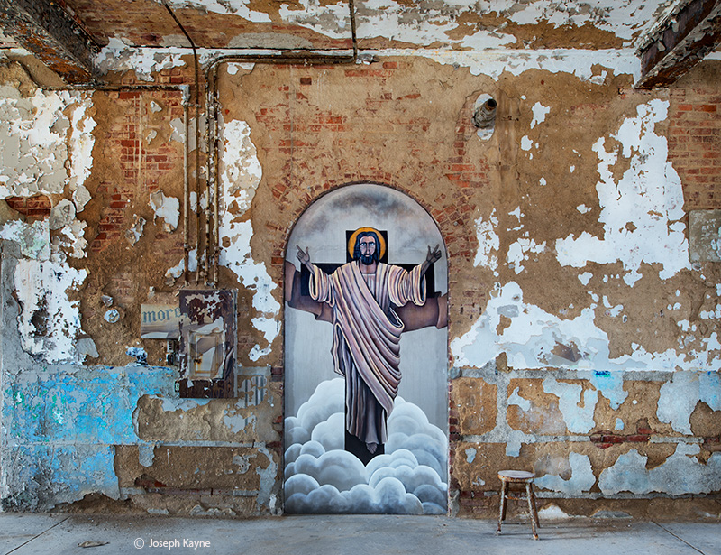 he,has,risen,jesus,mural,abandoned,chapel,rust,belt