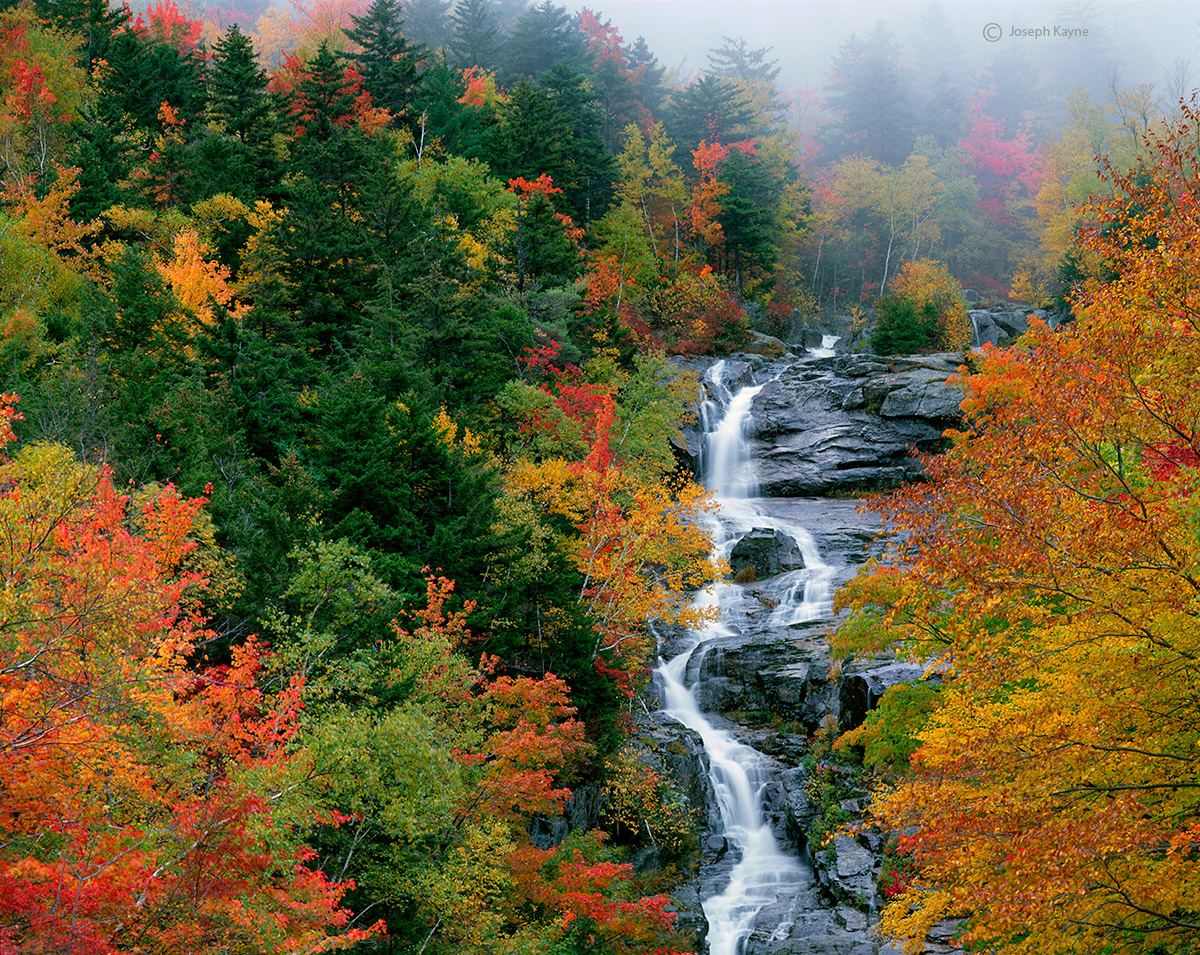 silver,cascade,fog,new,hampshire,autumn,new,england, photo
