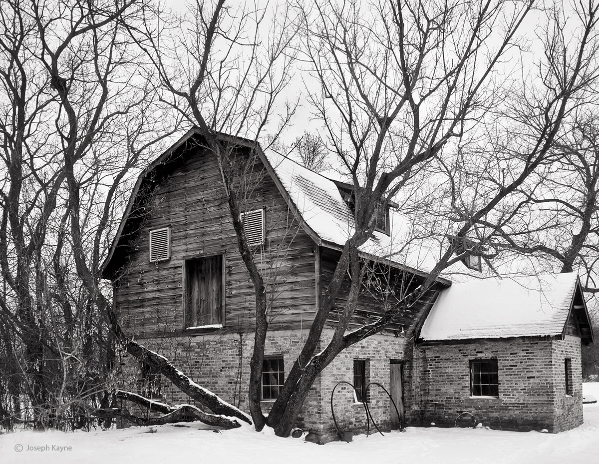 winter,barn,illinois, photo