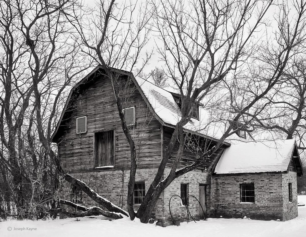 winter,barn,illinois, photo
