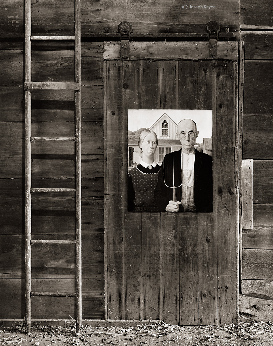 american,gothic,illinois,barn,interior, photo