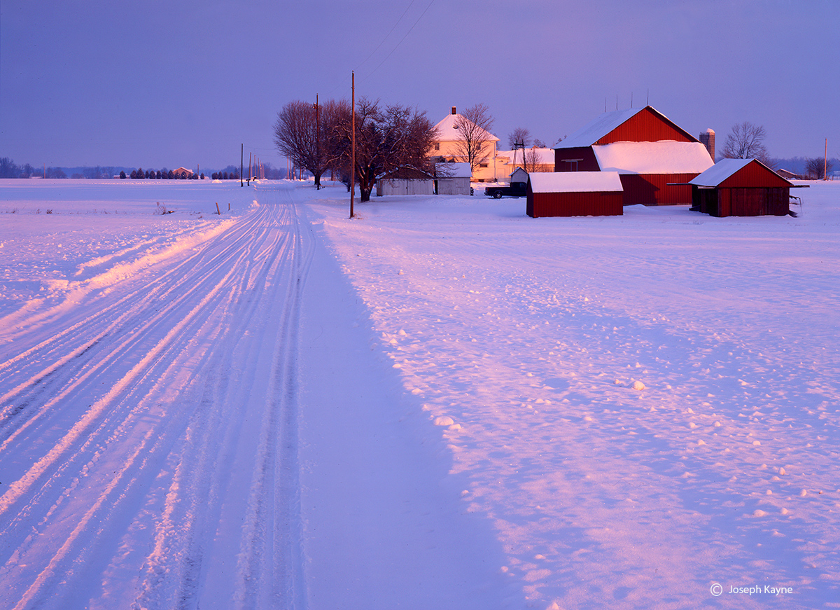 indiana,crossroads,farm,winter, photo