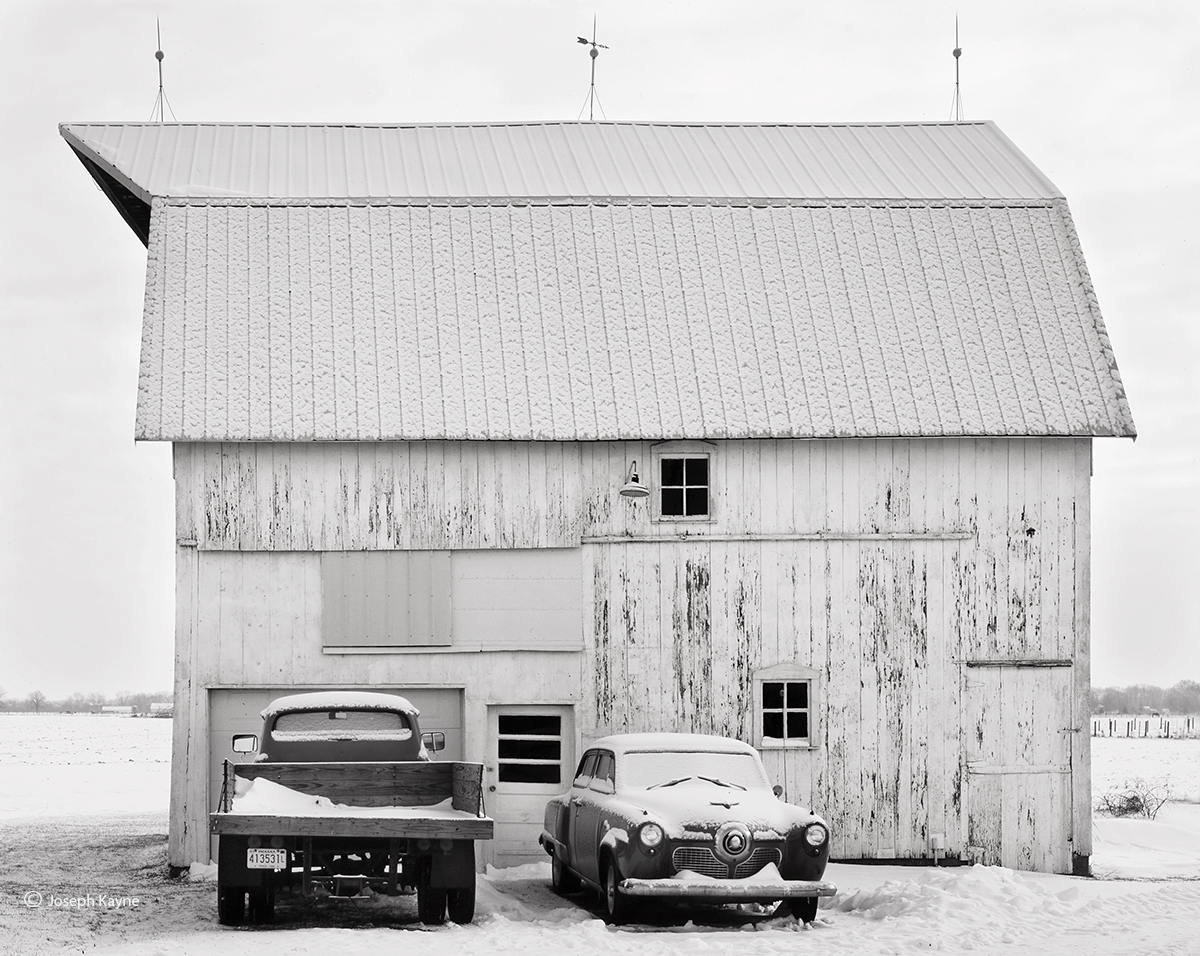 studebaker,barn,indiana,winter, photo