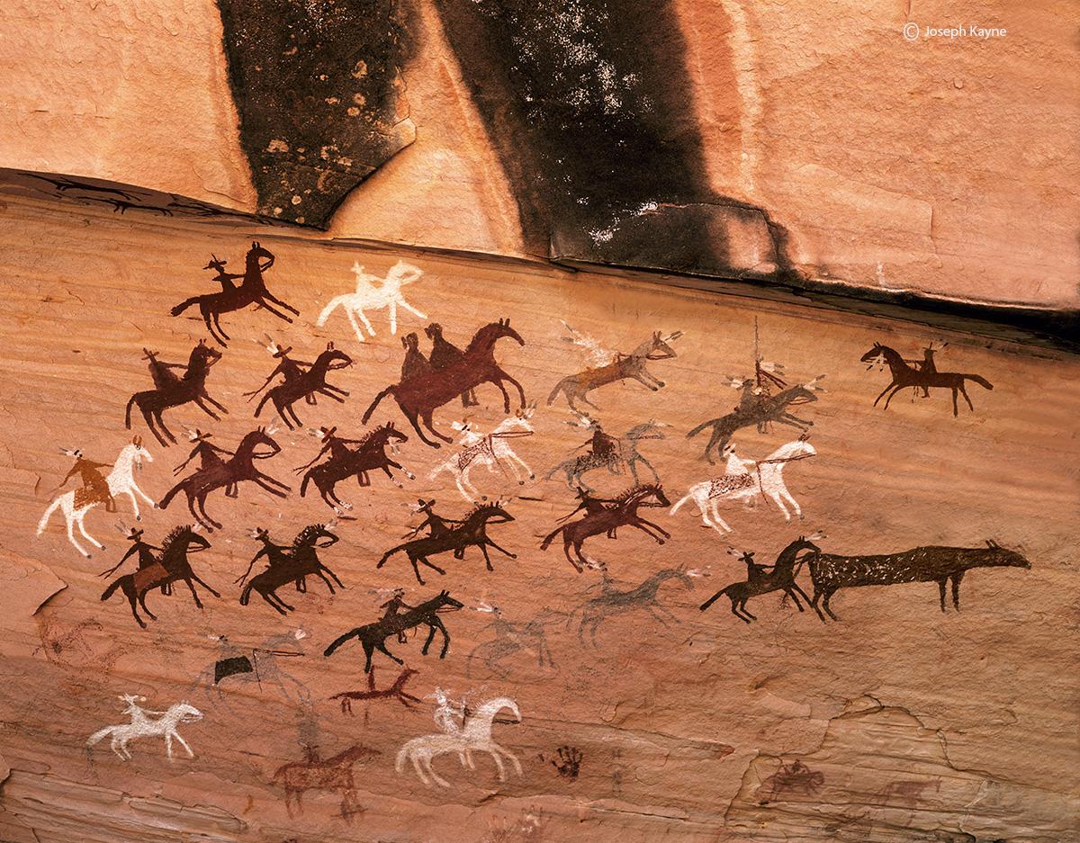 navajo,riders,colorado,plateau,navajo,rock,art, photo