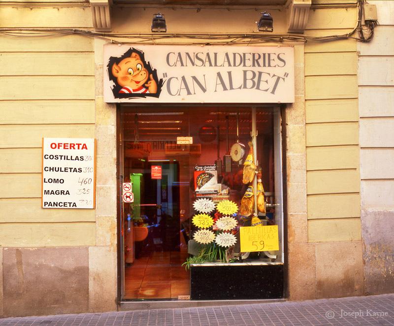 butcher,shop,barcelona,storefront, photo