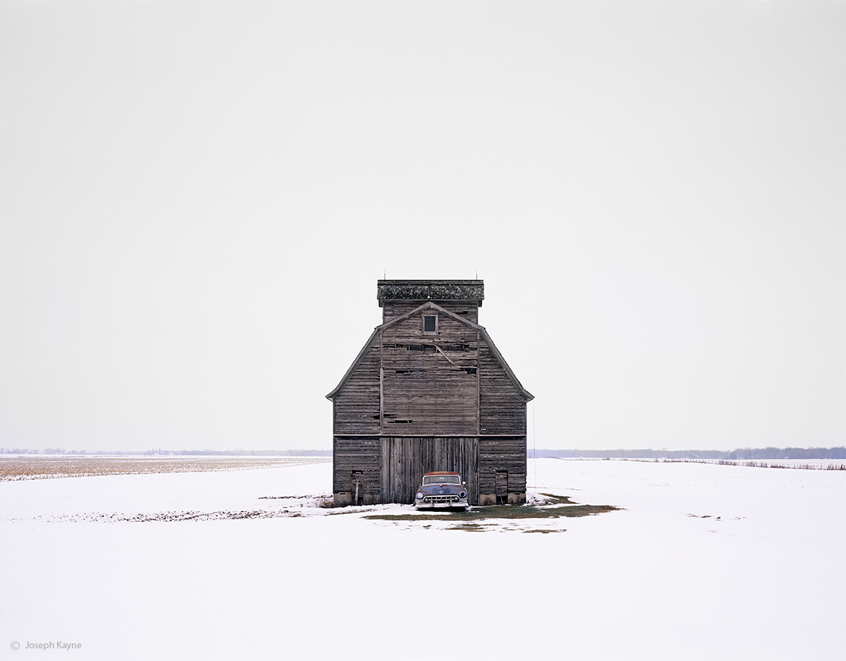 winter,solitaire,illinois,barn,old,cadillac, photo