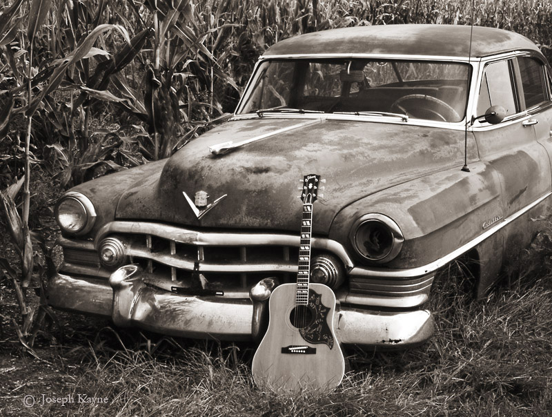 gibson,hummingbird,illinois,old,cadillac,guitar, photo