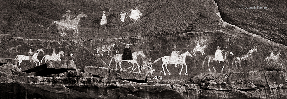 procession,colorado,plateau,navajo,rock,art, photo