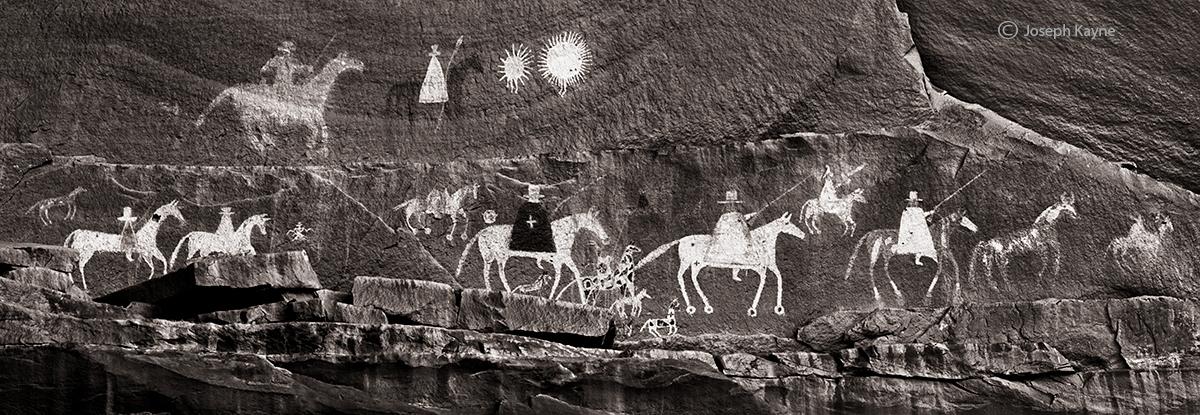 procession,colorado,plateau,navajo,rock,art, photo