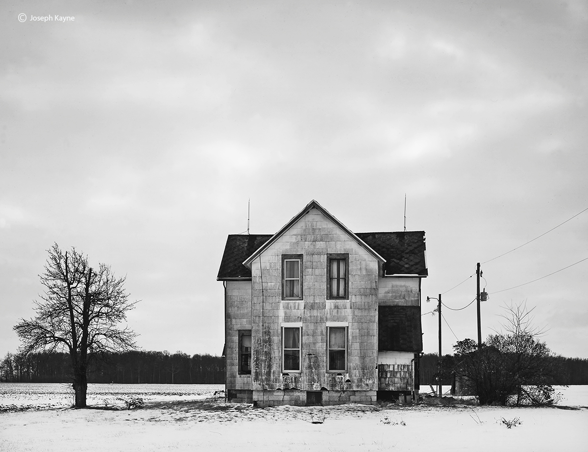 abandoned,farmhouse,indiana,winter, photo