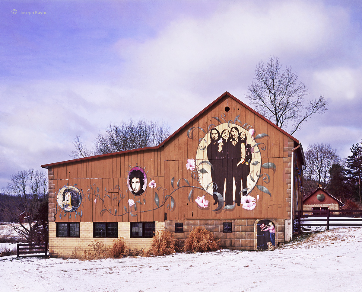 beatles,barn,winter,ohio, photo