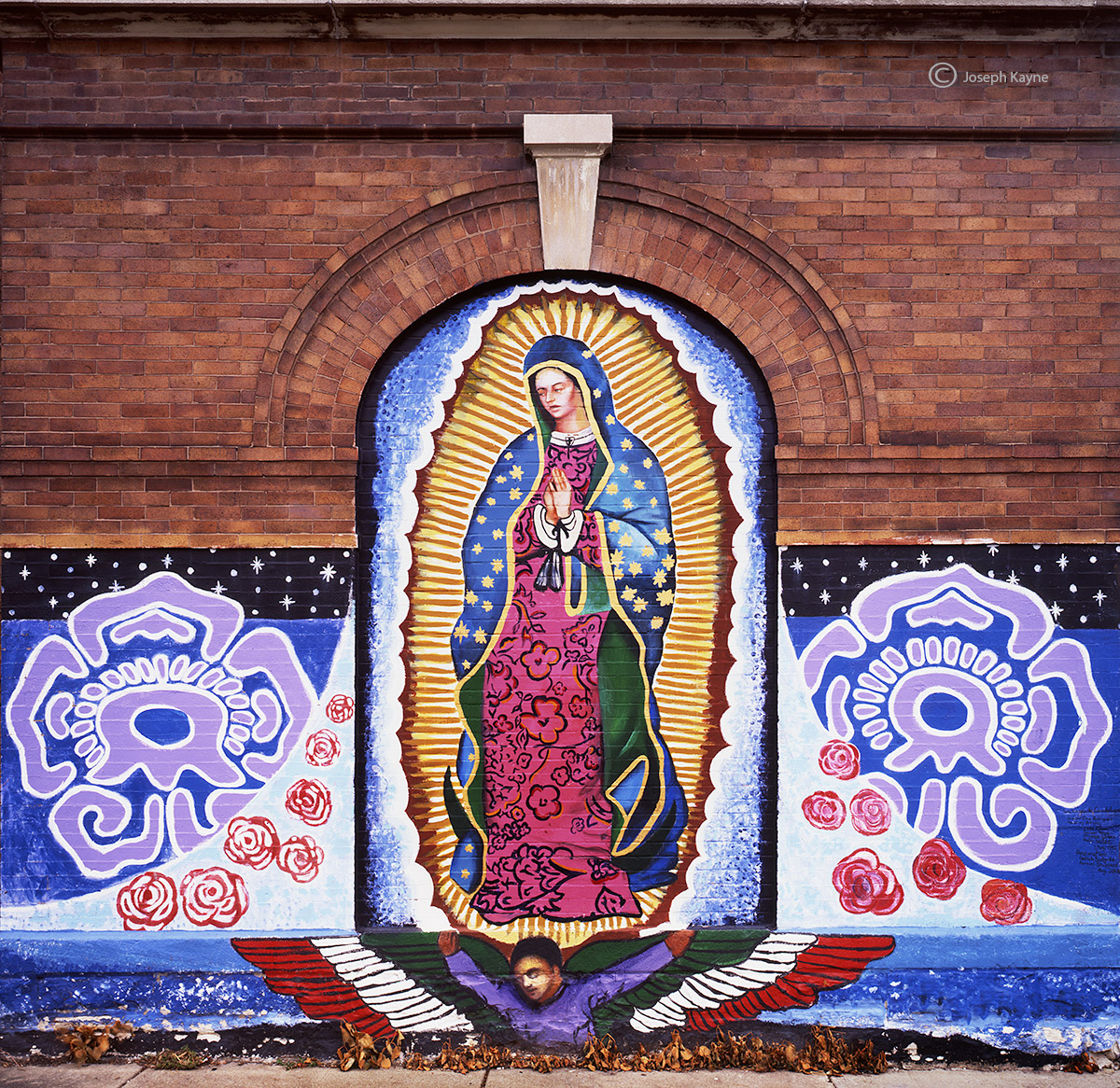 virgin,guadalupe,mural,chicago,pilsen, photo