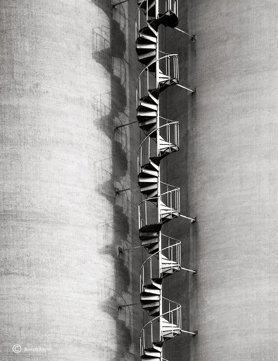 silo,staircase,illinois, photo