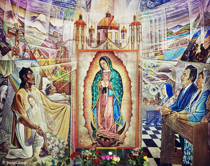 pilsen,church,mural,chicago,virgin,guadalupe, photo
