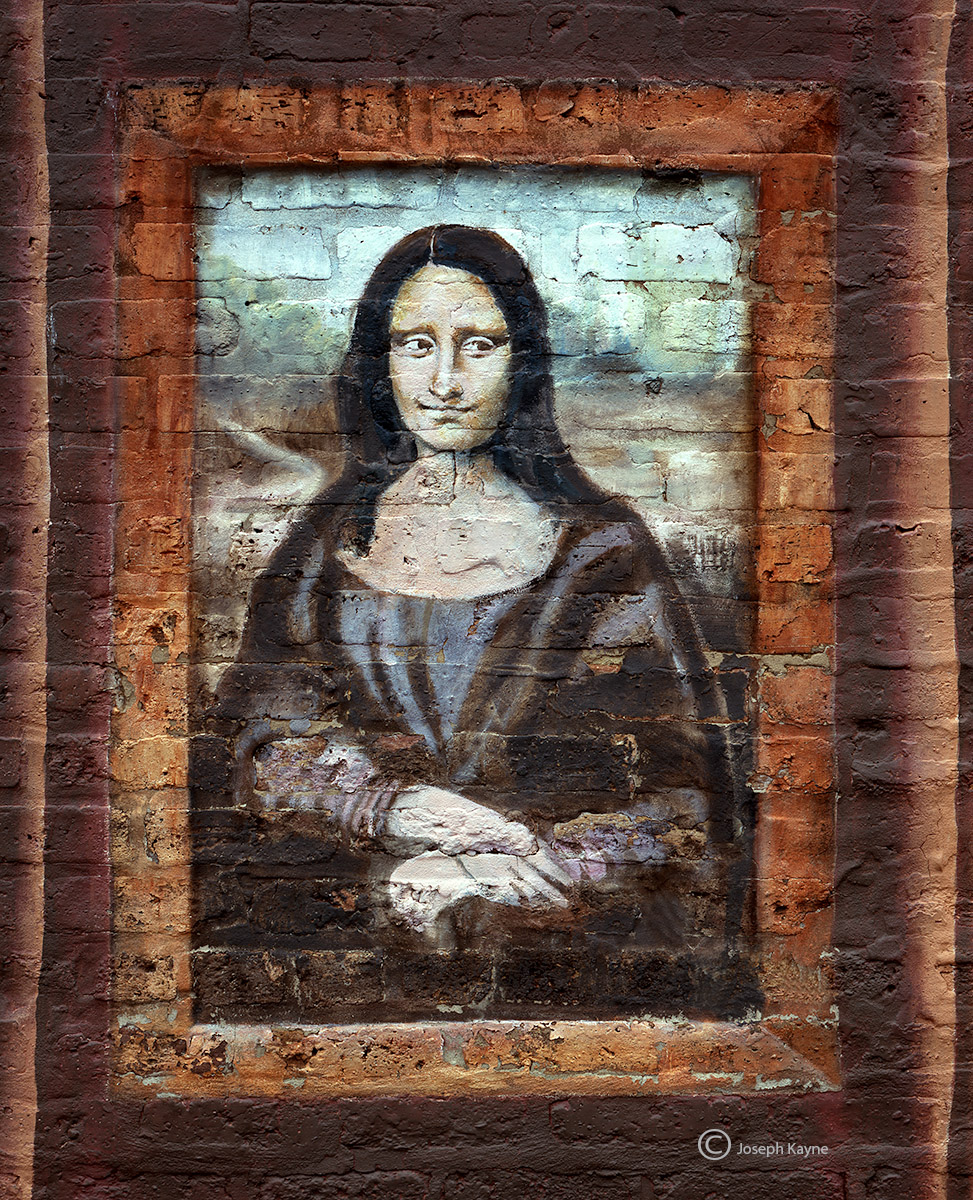 mona,lisa,chicago,street,art, photo