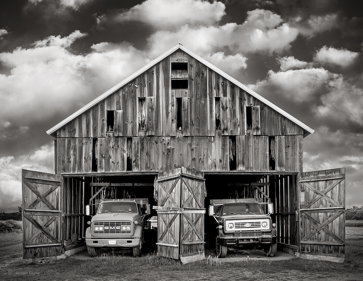 Old Tobacco Barn & Trucks