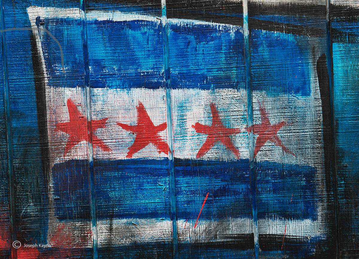 chicago,flag,street,art,graffiti, photo